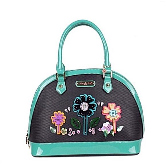 Nicole Lee Handbags - ✤ Laser Cut Pop Flowers Dome Bag